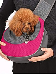 cheap -pet dog sling carrier 6lb small dog outdoor travel bag hands free front pack chest carrier with breathable mesh pouch for puppy cat small dog(pink)