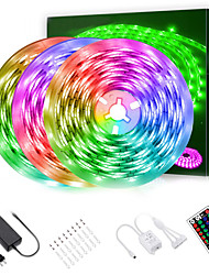 cheap -LED Strip Lights (3x5m)15m 2835 RGB Light Strips Color Changing Rope Lights Flexible Tape Light Kit with 44 Keys Remote Controller