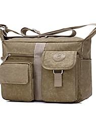 cheap -women's shoulder bags casual handbag travel bag messenger cross body nylon bags (khaki)