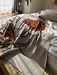 cheap -100% Cotton Throw Blanket Textured Soft Sofa Couch Decorative Knitted Blanket Sofa Blanket Sofa Cover