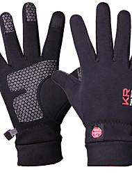 cheap -KORAMAN Winter Winter Gloves Sports Gloves Bike Gloves / Cycling Gloves Mountain Bike MTB Road Bike Cycling Lightweight Windproof Fleece Lining Warm Full Finger Gloves Sports Gloves Dark Grey Black