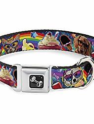 رخيصةأون -طوق الكلب مشبك حزام الأمان - الحيوانات الأليفة& وجبات خفيفة ملصقة قوس قزح