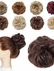 economico -estensioni dei capelli disordinati chignon updo chignon ciambella elastica sposa panino coda di cavallo scrunchy parrucca parrucca accessorio per le donne 1 pezzo 6 # marrone-medio