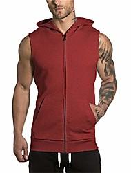 cheap -gym hoodie men bodybuilding stringer tank top muscle sleeveless shirt (xl, black)