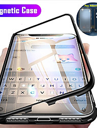 cheap -Magnetic Case For Apple iPhone 12 / iPhone 12 Mini / iPhone 12 Pro Max Clear 360 Protection Shockproof / Flip / Protective Case Transparent Full Body Double Sided Glass Hard Tempered Glass