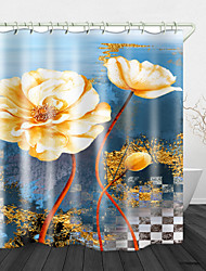 cheap -Beautiful flowers Print Waterproof Fabric Shower Curtain for Bathroom Home Decor Covered Bathtub Curtains Liner Includes with Hooks