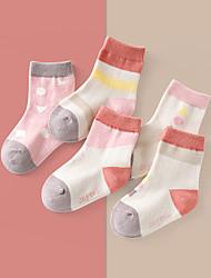 cheap -5 Pairs Kids Toddler Unisex Underwear & Socks Dusty Rose Color Block Rainbow