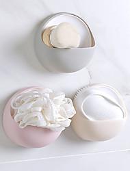 cheap -Creative Fashion Powerful Suction Cup Soap Box Bathroom Simple Soap Box Wall-Mounted Drain Soap Holder