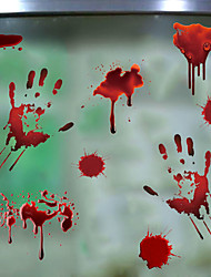 cheap -Horror Blood Handprint Halloween Wall Stickers Decorative Wall Stickers, PVC Home Decoration Wall Decal Wall Decoration / Removable 45*30CM