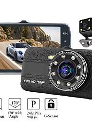 cheap -4.0 Inch 1080P Hd Dash Cam Auto Dvr Camera Recorder Met G-Sensor 170 Graden Brede Kijkhoek Auto dashcam Nachtzicht Camcorder