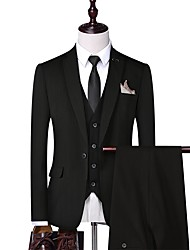 cheap -Tuxedos Standard Fit Notch Single Breasted One-button Polyester Striped