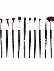 cheap -eye makeup brushes 12 pieces professional cosmetics makeup brush set, eye shadow, concealer, eyebrow, eyeliner brush,eyelash brush blending make up brushes (black)