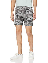 """cheap -but& #39;s 7"""" inseam flat-front stretch chino short, grey camo 31"""
