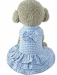 cheap -puppy clothes,pet outfit dog apparel short skirt dress blue