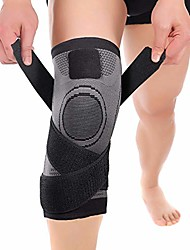 cheap -knee brace, 1 pack knee compression sleeve support professional protective sports elastic knee pads for basketball tennis cycling volleyball football, black xl