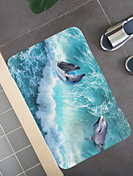 cheap -Dolphins in the big waves Hallway Carpets and Rugs for Bedroom Living Room Carpet Kitchen Bathroom Anti-Slip Floor Mats
