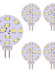 cheap -5pcs T10 G4 12 Leds 3528 2W AC12V DC12-24V Corn Led Mini Lampada Led Bulb Beads Dimmable Decorative Warm White Daylight White