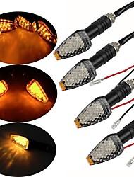 cheap -4Packs 12 LED Motorcycle Turn Signal Indicator Lights Amber Motorbike Night Lamps Universal for Harley Davidson Yamaha etc