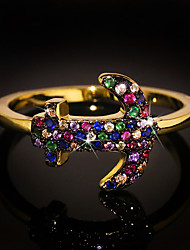 cheap -Ring AAA Cubic Zirconia Mixed Color Gold Brass Anchor Cute Colorful 1pc 6 7 8 9 10 / Women's
