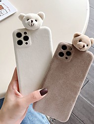 cheap -Case For iPhone 11 Pattern Back Cover Solid Colored Animal Textile Case For iPhone 11 Pro Max / SE2020 / XS Max / XR XS 7 / 8 7 / 8 plus