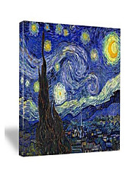 cheap -starry night canvas prints wall art by van gogh classical famous artwork huge size modern blue impressionist sky star pictures paintings for living room bedroom home decorations 36x48 inch