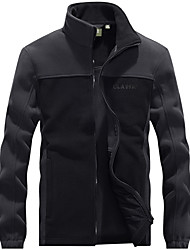 cheap -Men's Winter Jacket Color Block Holiday Male black Male Army Green Male blue M L XL