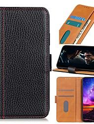 cheap -Case For Google Pixel 5 XL Pixel 4 XL Pixel 4a Wallet Card Holder with Stand Full Body Cases Solid Colored Genuine Leather Case For Google Pixel 5 Pixel 3a XL Pixel 4