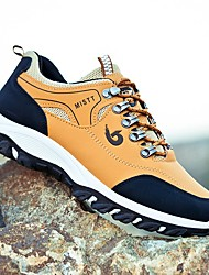 cheap -Men's Trainers / Athletic Shoes Sporty Athletic Outdoor Running Shoes / Walking Shoes PU Non-slipping Wear Proof Black / Yellow / Green Fall / Winter