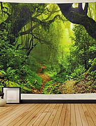 cheap -mistry forest tapestry magical nature green tree wall tapestry rainforest landscape tapestry wall hanging bohemian psychedelic tapestry for bedroom living room dorm
