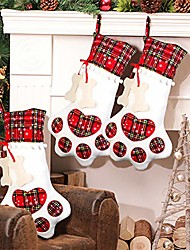cheap -pet dog christmas stocking hanging christmas stocking with large paw for christmas decorations, 18 x 11 inches