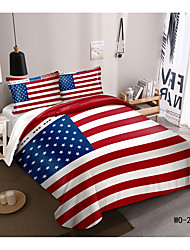 cheap -National Flag Series American Flag 3D Digital Print 3-Piece Duvet Cover Set Hotel Bedding Sets Comforter Cover with Soft Lightweight Microfiber(Include 1 Duvet Cover and 1or 2 Pillowcases)