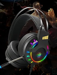 cheap -HG8 Gaming Headset USB 3.5mm Headphone 3.5mm Microphone Stereo with Microphone with Volume Control HIFI InLine Control for Gaming