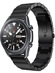 cheap -20/22mm Bamboo Stripe Stainless Steel Strap for Samsung Galaxy Watch 3 41mm / Galaxy Watch 3 45mm Smart Sport Watch Band