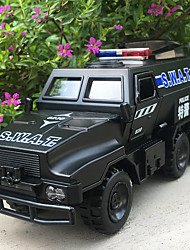 cheap -KDW 1:50 Alloy Police car Toy Truck Construction Vehicle Pull Back Vehicle Simulation Music & Light All Kids Baby & Toddler Car Toys