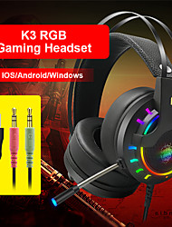 cheap -K3 Gaming Headset USB 3.5mm Headphone 3.5mm Microphone with Microphone with Volume Control Sweatproof InLine Control for Gaming