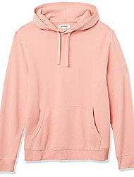cheap -amazon brand - men's lightweight french terry pullover hoodie sweatshirt, coral, xx-large