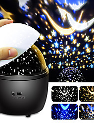 cheap -LED Starry Sky Projection Lamp Dream Rotating Night Sky Starry instrument Projection Night Light Children's Holiday Gift