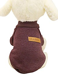 cheap -pet shirt, 8 color winter warm pet puppy sweater for small dogs shirt clothes coffee
