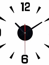 cheap -frameless diy wall clock - wall clocks new bedroom decor large mute simple design black wall stickers clock for living room bedroom home decorations, promotional wall decor