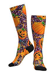 cheap -Socks Cycling Socks Men's Women's Bike / Cycling Breathable Soft Comfortable 1 Pair Graphic Cotton Orange M L XL / Stretchy