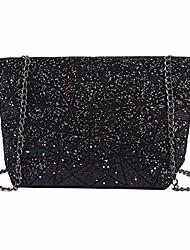 cheap -womens geometric purse holographic chain crossbody bag clutch purse black