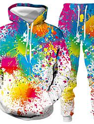 رخيصةأون -رجالي مناسب للبس اليومي Activewear مجموعة الرسم قطعتين كاجوال هوديس بلوزات أبيض أسود
