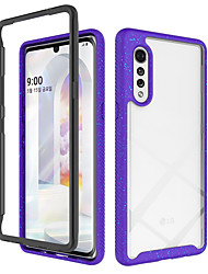 cheap -Case For LG LG K51 Stylo 6 Shockproof Transparent Back Cover Transparent Solid Colored Geometric Pattern TPU Acrylic PC