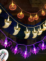 cheap -Halloween Party Toys LED Lighting String Lights 3 pcs Ghost Pumpkin Bat Remote Control / RC PVC Kid's Adults Trick or Treat Halloween Party Favors Supplies