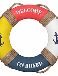 """cheap -nautical lifering nautical decorative life ring buoy home wall door hangings decor,red & blue & white & yellow 12.2"""" inches"""