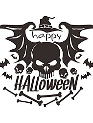 cheap -New Halloween Decorations Skeleton Bat Self Adhesive Wall Stickers Creative Indoor Car Wall Decoration