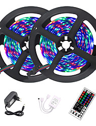 cheap -2x5M Flexible LED Strip Lights Light Sets RGB Tiktok Lights Remote Controls 600 LEDs 2835 SMD 8mm Cuttable Color Gradient 12 V 1 set