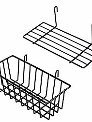 cheap -hanging basket straight shelf flower pot display holder for wire wall grid panel, 2 pack
