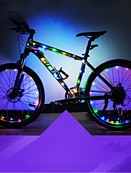 cheap -LED Bike Light Bike Light Tube Lights Frame Bicycle Cycling Waterproof Safety Suitable for Vehicles Easy Carrying Button Battery 2 × AA Batteries White Red Blue Cycling / Bike Motocycle