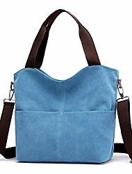 cheap -hobo handbags,  canvas crossbody bags for women fashion crossover purse cotton shoulder bag (blue)